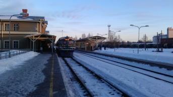 Met de trein in Estland: sneeuw, ijs, lange wacht- en reistijden, maar warme treinen