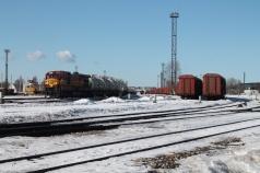 Spoorwegen worden in Estland vooral gebruikt voor goederenvervoer, zoals hier, in Tallinn.