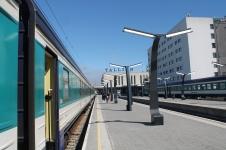 Tallinn Baltijaam, het belangrijkste station van Tallinn.