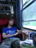 Nine to eleven hours in a hot train is making even the most hardened traveller sleepy.