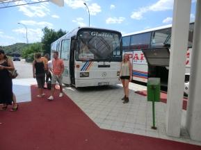 EIndelijk, onze bus naar Sarajevo...