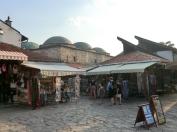 De oude markthallen van de Baščaršija