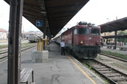 Our train waiting at Beograd train station