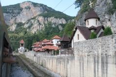 Serbian monastery near the border