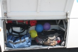 Mijn tas in het bagageruim