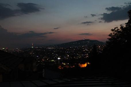 Night over Sarajevo