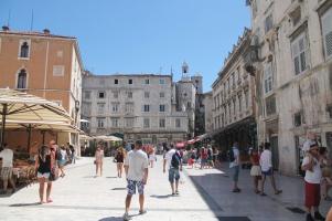 Een van de grotere pleinen in de binnenstad